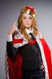 Drottningaffärskvinna Royaltyfri Bild