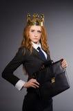 Drottningaffärskvinna Arkivfoto