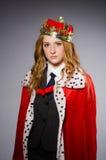 Drottningaffärskvinna Fotografering för Bildbyråer