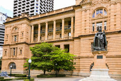 Drottningen Victoria Statue, Queens parkerar, Brisbane Arkivbild