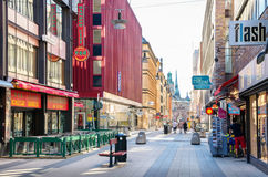 Drottninggatan street. Stockholm, Sweden Royalty Free Stock Images