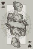 Drottninghjärta stock illustrationer