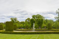 Drottninghlom-Gartenansicht in die Stadt von Stockholm stockfotografie