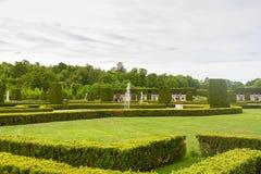 Drottninghlom-Gartenansicht in die Stadt von Stockholm stockfotos