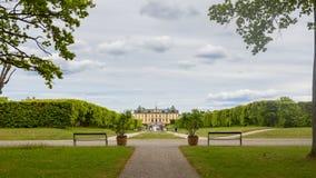Drottninghlom-Gartenansicht in die Stadt von Stockholm stockfoto