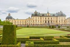 Drottninghlom-Palastansicht in die Stadt von Stockholm lizenzfreies stockbild