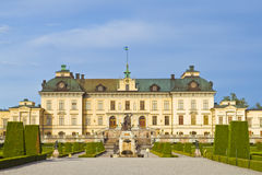 Drottningholm castle. And the garden stock photos