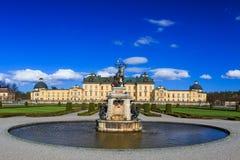 Drottningholm pałac, Szwecja - zewnętrznie widok obraz royalty free