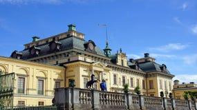 Drottningholm pałac blisko Sztokholm w Szwecja Obraz Royalty Free