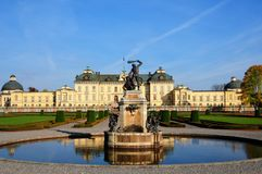 Drottningholm Palace Stockholm. Drottningholm Palace (Swedish: Drottningholms slott) is the private residence of the Swedish royal family. It is located in royalty free stock photos