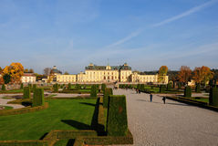 Drottningholm Palace Stockholm. Drottningholm Palace (Swedish: Drottningholms slott) is the private residence of the Swedish royal family. It is located in royalty free stock photo