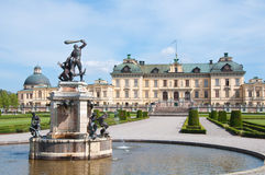 Drottningholm Palace, Stockholm, Sweden. The private residence of the Swedish royal family, located in Drottningholm near Stockholm. It is built on the island royalty free stock photo