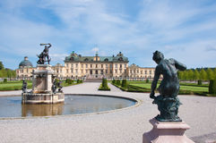 Drottningholm Palace, Stockholm, Sweden. The private residence of the Swedish royal family, located in Drottningholm near Stockholm. It is built on the island stock images
