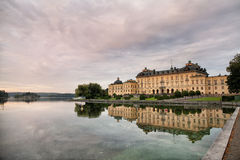 Drottningholm Palace, Stockholm, Sweden. The private residence of the Swedish royal family, located in Drottningholm near Stockholm. It is built on the island royalty free stock images