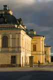 Drottningholm Palast mit Abdeckung Stockfotografie