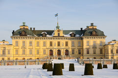 Drottningholm slott na zewnątrz Sto (pałac królewski) Zdjęcia Stock