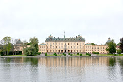Drottningholms Palace in the Stockholm city Royalty Free Stock Photos