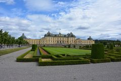 The Drottningholm Palace Gardens, Stockholm royalty free stock photography