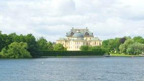 drottningholmslott, stockholm, Sverige, timelapse, 4k arkivfilmer
