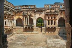 Drottnings bad, Hampi, Indien Fotografering för Bildbyråer