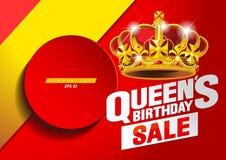 Drottnings födelsedag royaltyfri illustrationer