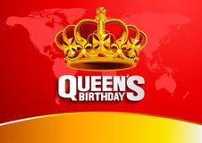 Drottnings födelsedag vektor illustrationer