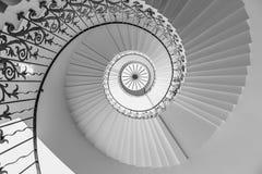 Drottnings för spiraltrappuppgång hus Royaltyfri Fotografi