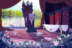 Drottnings slottinre stock illustrationer