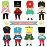 Drottnings vakter, leksaksoldat, nötknäppare, UK-vakter, UK-soldat royaltyfri illustrationer