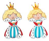 Drottningset vektor illustrationer