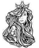 Drottningstående royaltyfri illustrationer