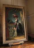 Drottningstående på den Versailles slotten Arkivbild