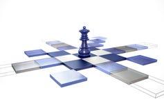 drottningstrategi för schack 3d Royaltyfria Bilder