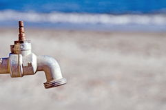 Drought. Rusty tap as sybol of dryness Royalty Free Stock Image