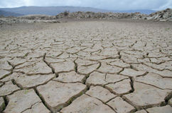 Drought. Bottom of dried Bilecko lake in Herzegovina after long drought Stock Photos