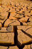 Drought. Texture of shrinkage earth cracks,Cracked and dried mud texture Royalty Free Stock Images