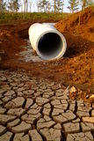Drought. Texture of shrinkage earth cracks,Cracked and dried mud texture Stock Images