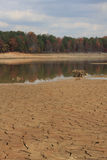 Drought. A lake in Atlanta dry due to a drought Royalty Free Stock Photo