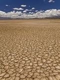 Drought. Large field of baked earth after a long drought royalty free stock photo