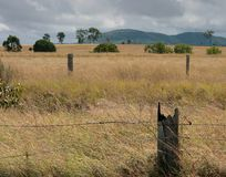 Drought. Affects the rural areas of Queensland Australia as the sky promises rain Stock Photo