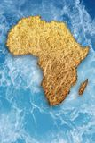 Drought in Africa. Abstract illustration of drought in Africa. Global warming, climate change, stop global warming, Somalia drought, drought monitor, water stock photo