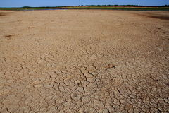 Drought in Africa. Animal tracks in the cracked dry mud is evidence of drought in Africa stock photos