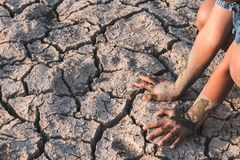 Drought caused by water shortage. royalty free stock photos