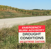 Drought Conditions Advisory Sign Stock Photography