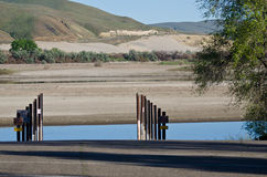 Drought Conditions - Boat Launch at Empty Reservoir Royalty Free Stock Photos