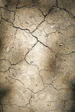 Drought. Cracked earth dust and dirt caused by drought Stock Photo