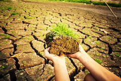 Drought cracked soil sky Stock Photos