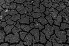 Drought cracked soil sky Royalty Free Stock Photography