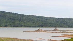 Drought dam Stock Images