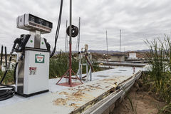 Drought Damage at Lake Mead Echo Bay Marina Stock Photos